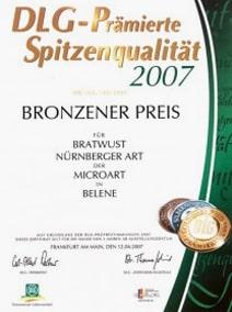 Германското сдружение з а земеделие (DLG) връчи бронзов медал на Микроарт 7