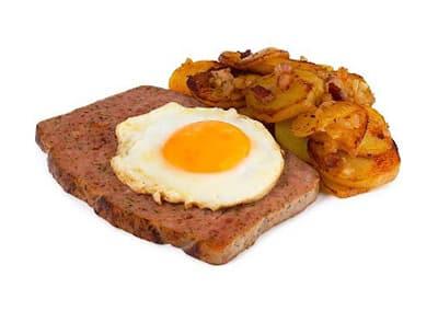 Флайшкез с печени картофи